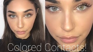 COLORED CONTACTS TRY ON & REVIEW!! SOLOTICA || Chantel Jeffries
