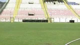 Quasi completati i lavori di rifacimento del manto erboso dello stadio San Filippo
