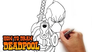 getlinkyoutube.com-How to Draw Deadpool- Step by Step Lesson