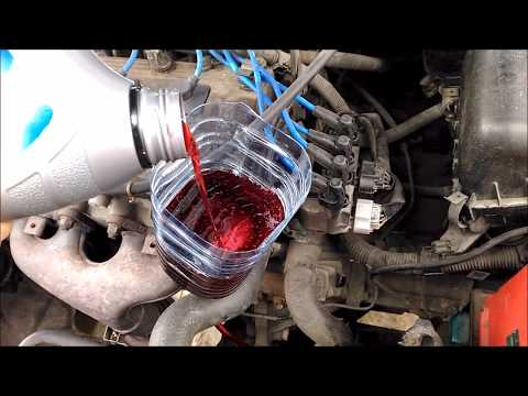 Замена масла в механической коробке (МКПП) на TOYOTA Corolla e11