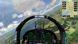 getlinkyoutube.com-Aerofly FS simulator: F-18 Swiss Air Force High Speed Flight over Swiss Scenery