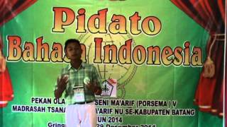getlinkyoutube.com-Juara I Lomba Pidato Bahasa Indonesia PORSEMA V