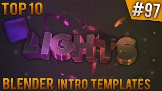 TOP 10 Blender intro templates #97 (Free download)