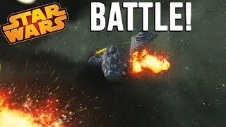 getlinkyoutube.com-STAR DESTROYER VS MON CALAMARI Cruiser! - Space Engineers BATTLE!