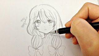 getlinkyoutube.com-Draw a Manga Girl (real time drawing)