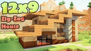 getlinkyoutube.com-Minecraft 12x9 house - дом дизайнера