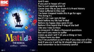 School Song - Matilda the Musical Karaoke