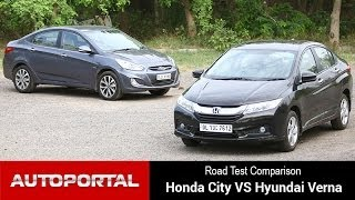 "getlinkyoutube.com-Honda City vs Hyundai Verna ""Road Test Comparison"" - AutoPortal"