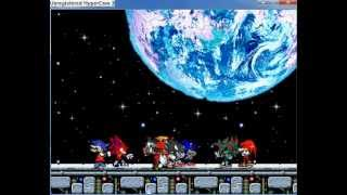 Mugen - Neo,-Z-,Dark Super Sonic, and E-123 Omega vs Vicious, knuckles, Ace , and Metal Sonic