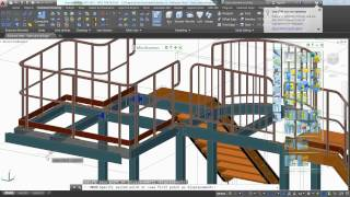 getlinkyoutube.com-Stairs and railings with Autodesk Advance Steel