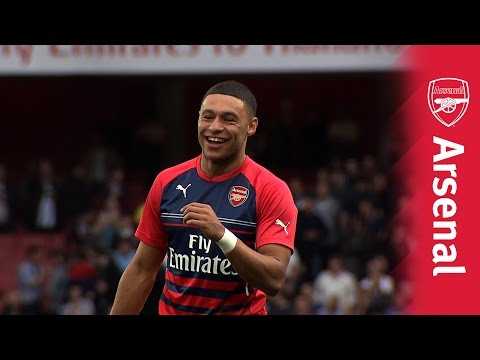 Arsenal v Tottenham Hotspur 2014/15 - best of the warm up