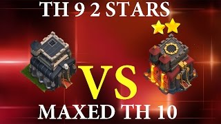 getlinkyoutube.com-Clash of Clans: TH 9 2 STARS MAXED TH10 IN CLAN WAR MUST SEE!