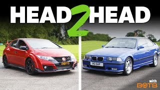 getlinkyoutube.com-Can My 20-Year-Old M3 Keep Up With A New Civic Type R?