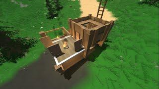 getlinkyoutube.com-Unturned - วิธีสร้างบ้าน คราฟบ้าน