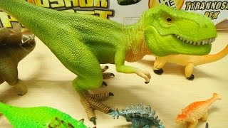 getlinkyoutube.com-Dinosaur Toys Collection for Kids T Rex Velociraptor Spinosaurus Triceratops