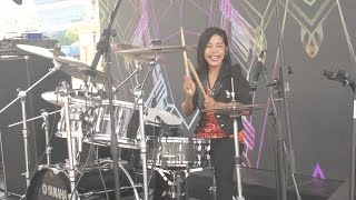 getlinkyoutube.com-Khalifah - Hang Pi Mana LIVE Drum Cover by Nur Amira Syahira