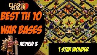 "getlinkyoutube.com-Clash of Clans: Best TH 10 War Base Design - ""1 Star Wonder"" #3"