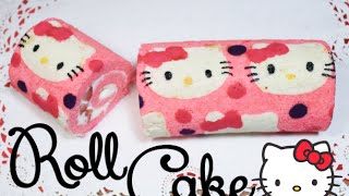 getlinkyoutube.com-➭ ¿Como hacer un Roll Cake? ♥︎ Roll Cake de Hello Kitty ♡ Miranda Ibañez