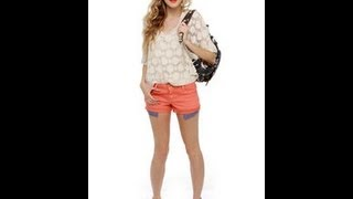 getlinkyoutube.com-Spring shorts for girls ! - Online Cute Sexy Spring 2013 Fashion Must Haves Women Teens Kids