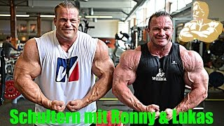 getlinkyoutube.com-Ronny Rockel & Luckas Wyler | Schultern im David Gym