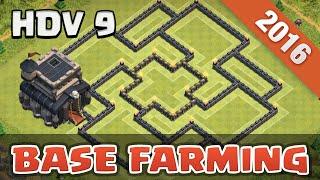 getlinkyoutube.com-TOP Base Farming HDV 9 + Defense | TH 9 |  Clash Of Clans Français