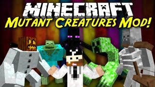 getlinkyoutube.com-Minecraft Mod Showcase: Mutant Creatures! [1.6.4] NEW SKELETON MUTANT!