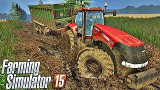 getlinkyoutube.com-Tratores Patinando na Lama - Farming Simulator 15 Multiplayer + Logitech G27!