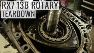 getlinkyoutube.com-Mazda RX7 13B Rotary Engine Teardown