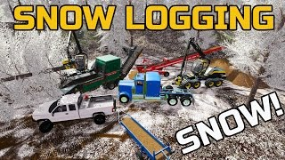 getlinkyoutube.com-FARMING SIMULATOR 2017 | LOGGING IN THE SNOW | MULTIPLAYER | WOOD-CHIPPING