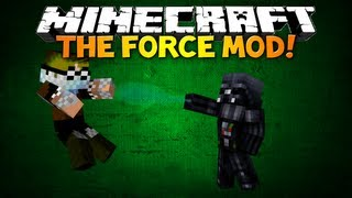 getlinkyoutube.com-Minecraft: THE FORCE MOD! - Star Wars Force, 3D Lightsabers! (Minecraft 1.5 mod showcase)