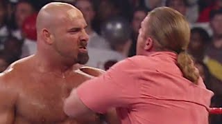 Goldberg takes out Triple H: Raw, Sept. 15, 2003