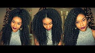 getlinkyoutube.com-Make A $17 Wig Look Like Its Your Real Hair!!!   Blending Half Wig   Model Model Shandy Sistawigs