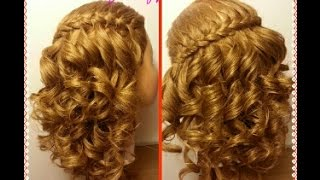 Trenza Cordon Frances con Crespos Faciles - French Braid with Easy Curls