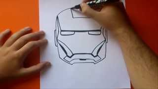 getlinkyoutube.com-Como dibujar a iron man paso a paso | How to draw iron man