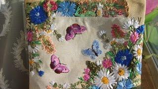 getlinkyoutube.com-Красивые сумки, вышитые атласными лентами. Вышивка атласными лентами на сумках