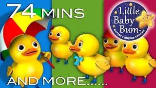 getlinkyoutube.com-Five Little Ducks | Plus Lots More Children's Songs | 74 Minutes Compilation from LittleBabyBum!