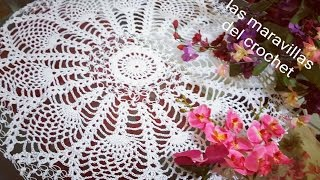 getlinkyoutube.com-Tapete redondo de piñas en crochet paso a paso #1