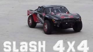 getlinkyoutube.com-Stampede VXL vs Slash 4x4 Drag Race (top speed)