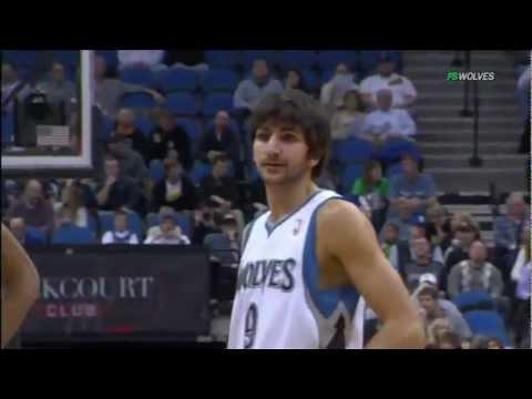 Amazing Debut Ricky Rubio NBA Minnesota Timberwolves vs Milwaukee Bucks HD HQ