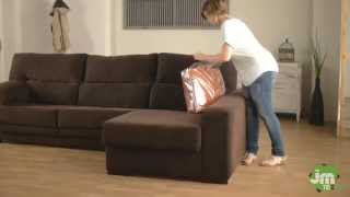 How to Put a Stretch Chaise Sofa Cover width=
