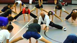 """getlinkyoutube.com-Bill """"Superfoot"""" Wallace Basic Stretching and Side Thrust Kick"""