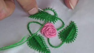 Hand Embroidery:Leaf stitch