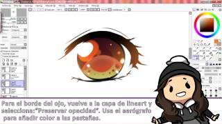 getlinkyoutube.com-Tutorial de ojos Manga/Anime (Anime/Manga eyes tutorial) - Speedpaint - Paint tool SAI - Eryen