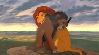 Scar and Mufasa have a talk before the coronation *lip sync*