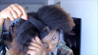 getlinkyoutube.com-TWO SIMPLE PROTECTIVE HAIRSTYLES FOR STRETCHED NATURAL HAIR