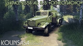 getlinkyoutube.com-Spintires 2014 - КрАЗ-255Б Ац 8,5 «Огнеопасно»