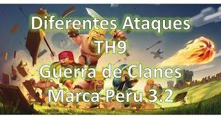 getlinkyoutube.com-Clash of Clans l Guerra de Clanes l Ataques Ayuntamiento nivel 9