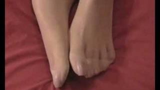 getlinkyoutube.com-White Stockings Toenails