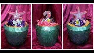 getlinkyoutube.com-Decoración de una hielera con motivo de la sirenita (Little Mermaid) manualidades