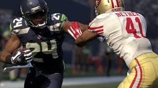 Can Marshawn Lynch Break a Tackle and Throw a 99 yard HB Pass to Russell Wilson? Madden 16 Gameplay